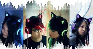 Historia de los audífonos con orejas de gato