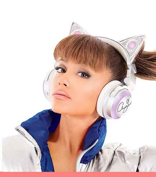 Audífonos de gato Ariana Grande